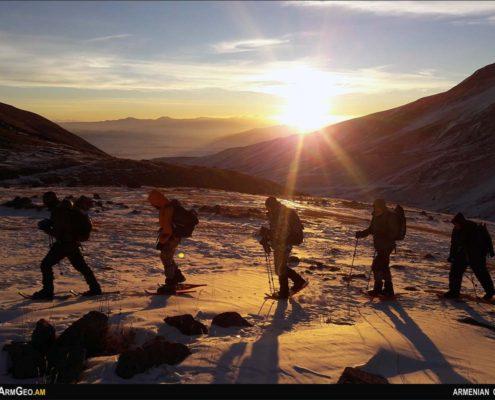 Ձմեռային վերելք Արագածի Հյուսիսային գագաթ